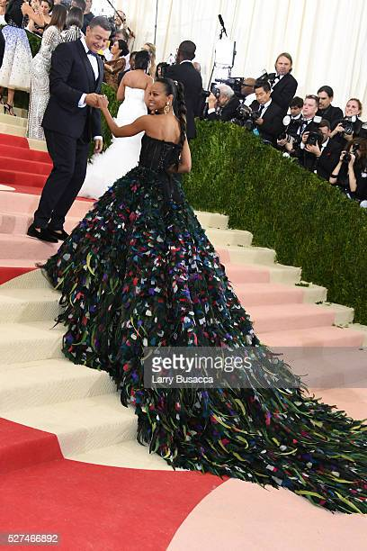 Stefano Gabbana and Zoe Saldana attend the 'Manus x Machina Fashion In An Age Of Technology' Costume Institute Gala at Metropolitan Museum of Art on...