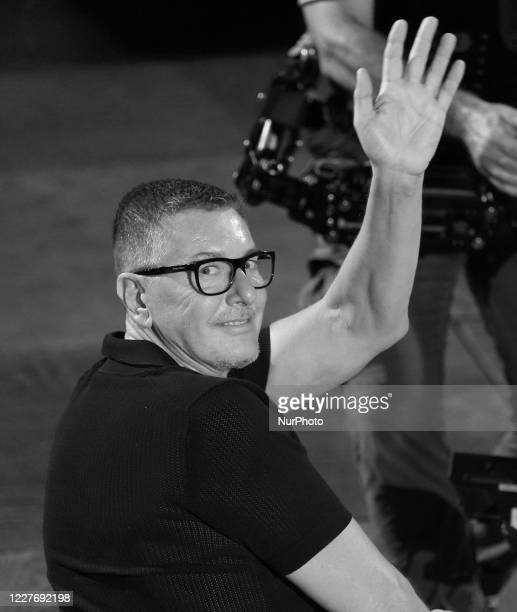 Stefano Gabbana attends the ceremony in memory of Ennio Morricone in the suggestive ancient theater of Taormina with the presentation of the film by...