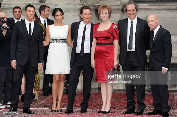 Stefano Gabbana Camila Alves Matthew McConaughey Letizia Moratti Giovanni Terzi and Domenico Dolce attend the Dolce Gabbana 20 Years of Menswear...