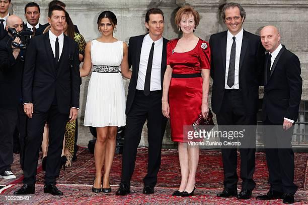 Stefano Gabbana Camila Alves Matthew McConaughey Letizia MorattiGiovanni Terzi and Domenico Dolce attend the Dolce Gabbana 20 Years of Menswear...
