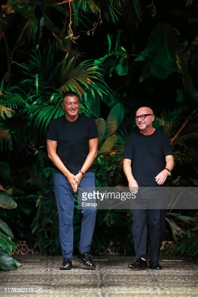 Stefano Gabbana Domenico Dolce at the Dolce Gabbana show during the Milan Fashion Week Spring/Summer 2020 on September 22 2019 in Milan Italy