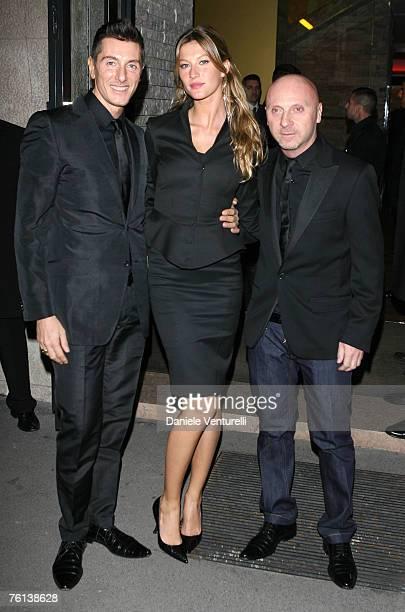 Stefano Gabbana Gisele Bundchen and Domenico Dolce