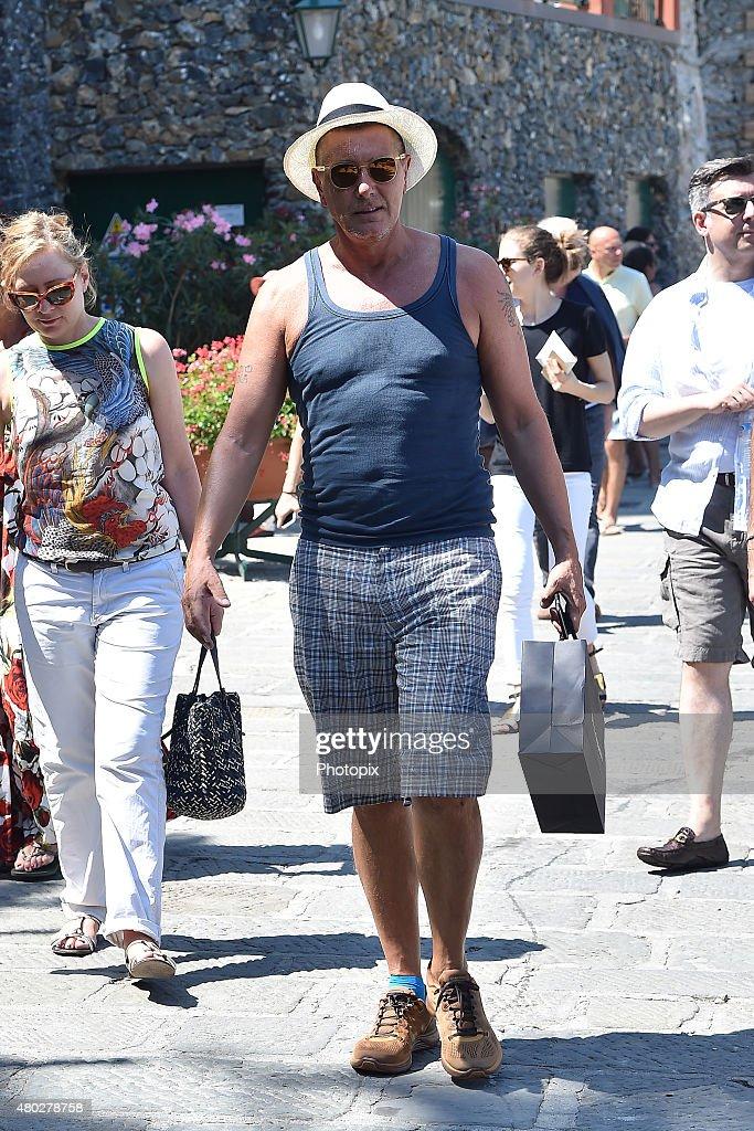 Stefano Gabbana is seen on July 10, 2015 in Portofino, .
