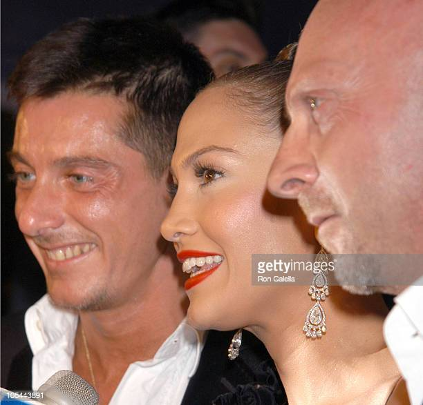 Stefano Gabbana Jennifer Lopez and Domenico Dolce