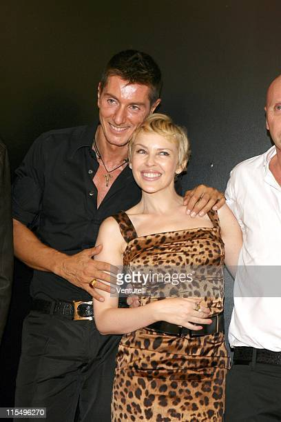 Stefano Gabbana Kylie Minogue and Domenico Dolce during Milan Fashion Week Spring/Summer 2007 Dolce Gabbana Front Row and Backstage at Viale Piave 24...