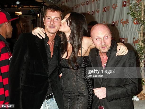 Stefano Gabbana Monica Bellucci and Domenico Dolce