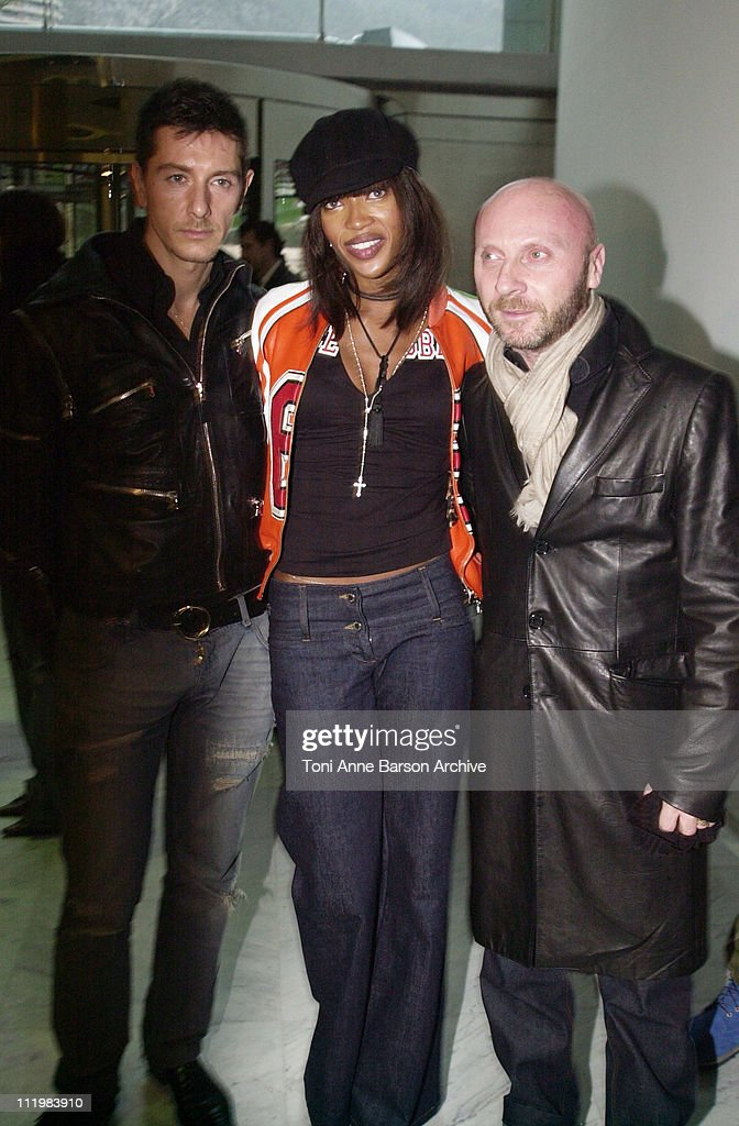 Stefano Gabbana, Naomi Campbell and Domenico Dolce