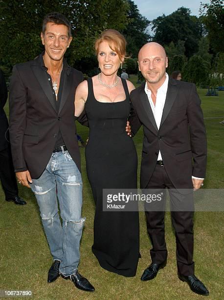 Stefano Gabbana with Sarah Ferguson and Domenico Dolce