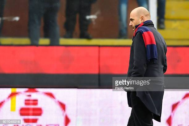 Stefano Giulini chairman of Cagliari before the serie A match betweenGenoa CFC and Cagliari Calcio at Stadio Luigi Ferraris on March 4 2018 in Genoa...