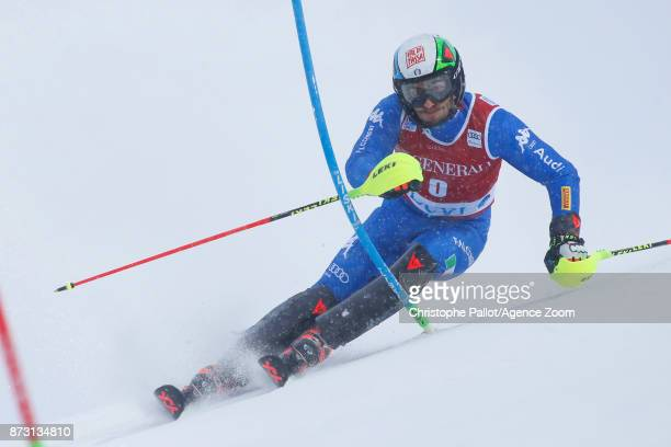 Stefano Gross of Italy competes during the Audi FIS Alpine Ski World Cup Men's Slalom on November 12 2017 in Levi Finland