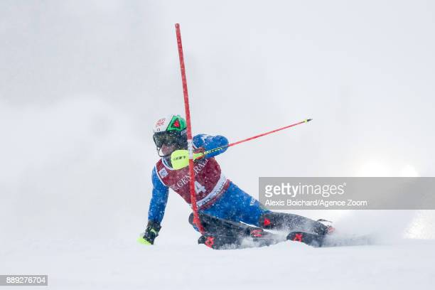 Stefano Gross of Italy in action during the Audi FIS Alpine Ski World Cup Men's Slalom on December 10 2017 in Vald'Isere France