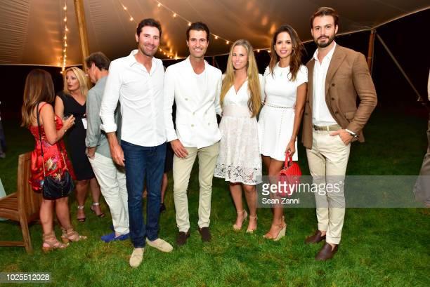 Stefano Ianni Alessandro Mele Jenna Weinfurt Karla Acevedo and Emanuele Fiore attend Peebles Corporation And RollsRoyce Saddle Up With Georgina...