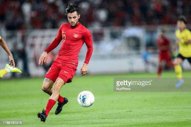 Stefano Lilipaly of Indonesian's in action during FIFA World Cup 2022 qualifying match between Indonesia and Malaysia at the Gelora Bung Karno...