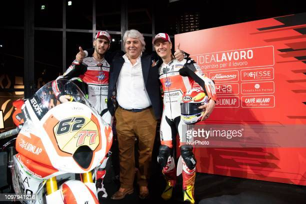 Stefano Manzi e Dominique Aegerter e Gianni Cuzari MV AGUSTA amp Forward Racing Team presentation of the official racing team and drivers Stefano...
