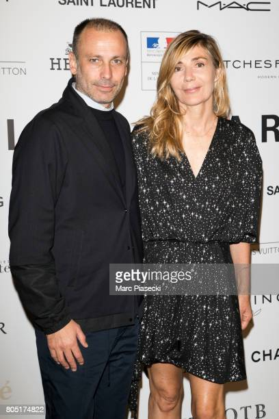 Stefano Marineto and Nathalie Dufour attend the 'ANDAM 2017' Prizewinner cocktail at Ministere de la Culture on June 30 2017 in Paris France