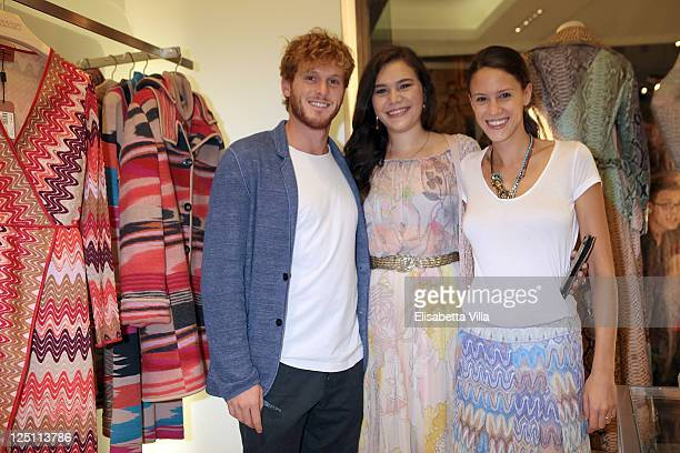 Stefano Masciolini Teresa Missoni and Chiara Martegiani attends the Rome Vogue Fashion's Night Out at Missoni Boutique on September 15 2011 in Rome...