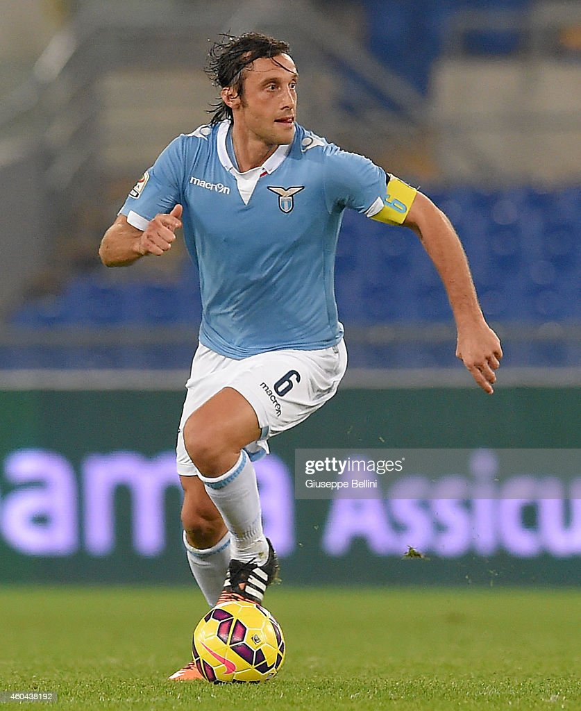 Stefano Mauri of SS Lazio in action during the Serie A match between SS Lazio and Atalanta BC at Stadio Olimpico on December 13, 2014 in Rome, Italy.