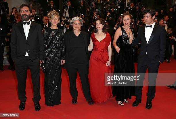Stefano Mordini Marina Fois Viola Prestieri guest Valeria Golino and Riccardo Scamarcio attend the It's Only The End Of The World Premiere during the...