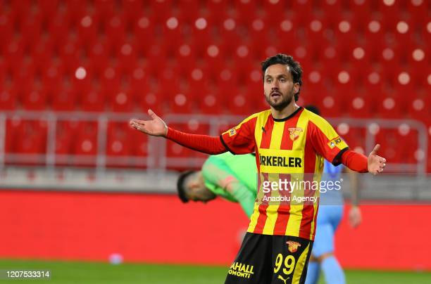 Stefano Napoleoni of Goztepe reacts during the Turkish Super Lig soccer match between Goztepe and Caykur Rizespor, played behind closed doors over...