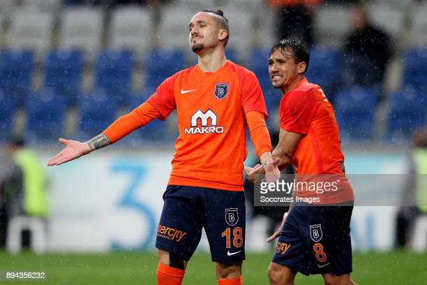 Stefano Napoleoni of Istanbul Basaksehir during the Turkish Super lig match between Istanbul Basaksehir v Antalyaspor at the Fatih Terim Stadium on...
