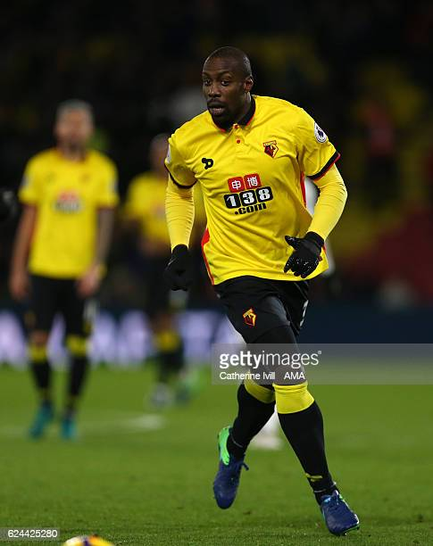 Stefano Okaka Chuka of Watford during the Premier League match between Watford and Leicester City at Vicarage Road on November 19 2016 in Watford...