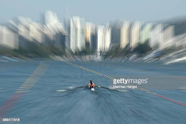 Stefano Oppo Martino Goretti Livio La Padula and Pietro Ruta of Italy compete during the LWT Men's Four Heat 1 on Day 1 of the Rio 2016 Olympic Games...