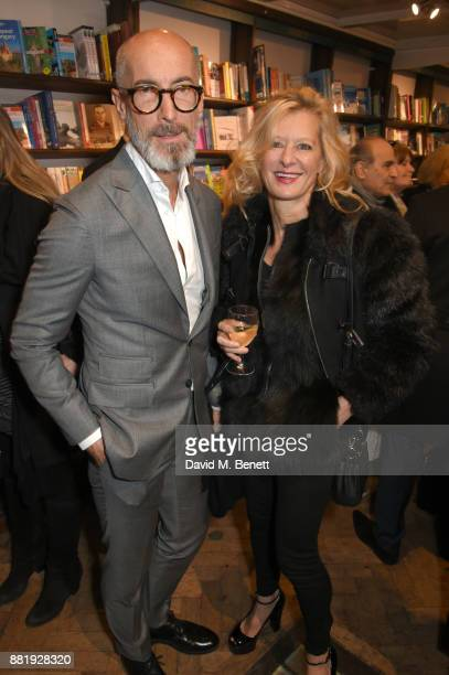 Stefano Pasianot and Alison Jackson attend the launch of new book 'Unaccompanied Minor' by Alexander Newley at Daunt Books on November 29 2017 in...