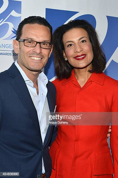 Stefano Pedretti and Andrea Fiuczynski attend the Project Angel Food's 25th Anniversary Angel Awards 2014 honoring Aileen Getty with the Inaugural...