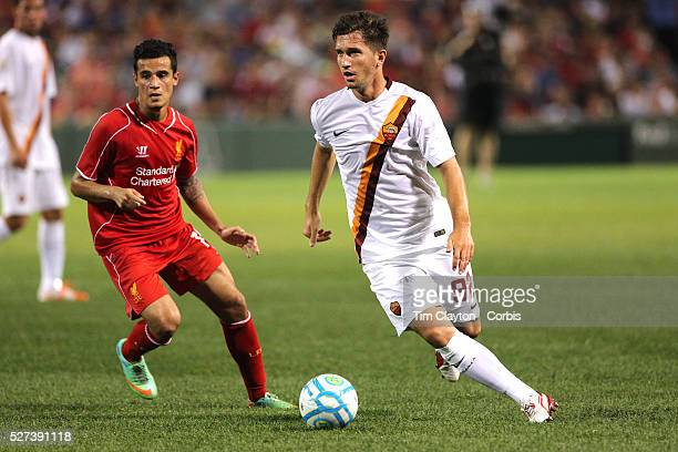 Stefano Pettinari AS Roma in action during the Liverpool Vs AS Roma friendly pre season football match at Fenway Park Boston USA 23rd July 2014 Photo...