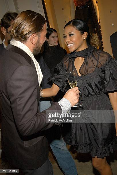 Stefano Pilati and Amerie attend YVES SAINT LAURENT and BERGDORF GOODMAN cocktail party to honor STEFANO PILATI at Bergdorf Goodman on November 1...