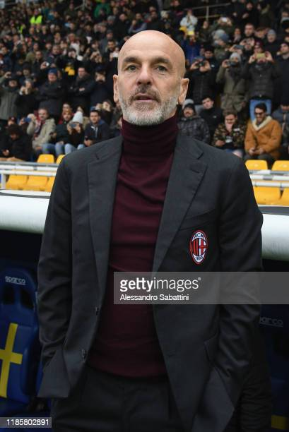 Stefano Pioli head coach of AC Milan looks on during the Serie A match between Parma Calcio and AC Milan at Stadio Ennio Tardini on December 1 2019...