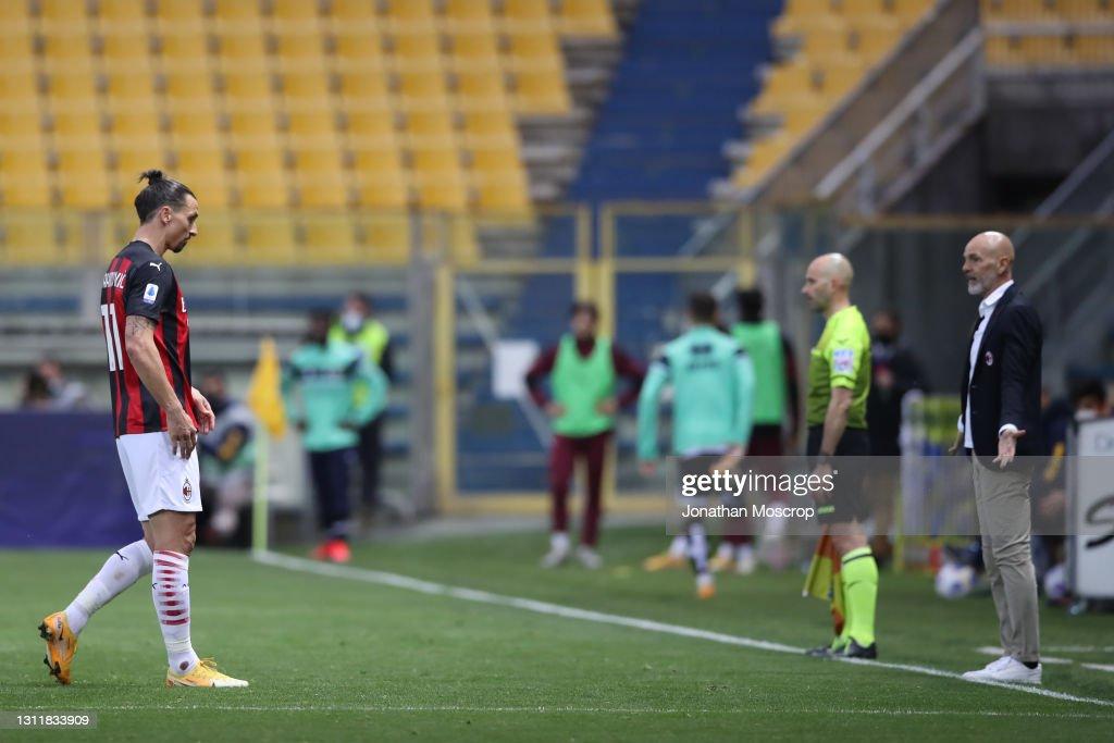 Parma Calcio  v AC Milan - Serie A : News Photo