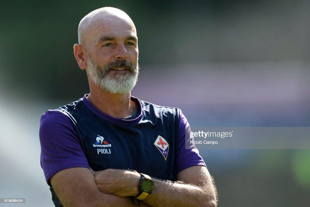 BENATTI, MOENA, TRENTO, ITALY - : Stefano Pioli, head coach of ACF Fiorentina, looks on prior to the pre-season friendly football match between ACF Fiorentina and AC Trento.