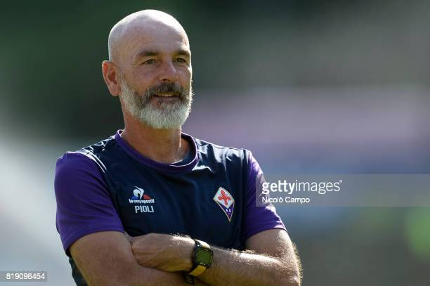 BENATTI MOENA TRENTO ITALY Stefano Pioli head coach of ACF Fiorentina looks on prior to the preseason friendly football match between ACF Fiorentina...