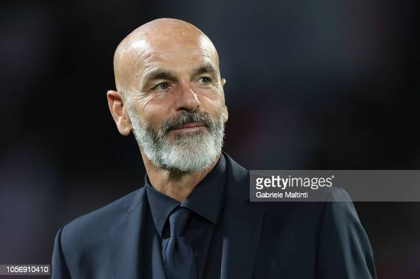 Stefano Pioli manager of ACF Fiorentina looks on during the Serie A match between ACF Fiorentina and AS Roma at Stadio Artemio Franchi on November 3...