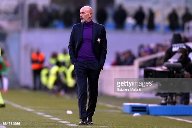 Stefano Pioli manager of AFC Fiorentina during the Serie A match between ACF Fiorentina and US Sassuolo at Stadio Artemio Franchi on December 3 2017...