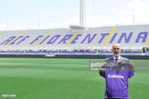 Stefano Pioli new head coach of Italian Serie A team ACF Fiorentina during his presentation at Artemio Franchi Stadium