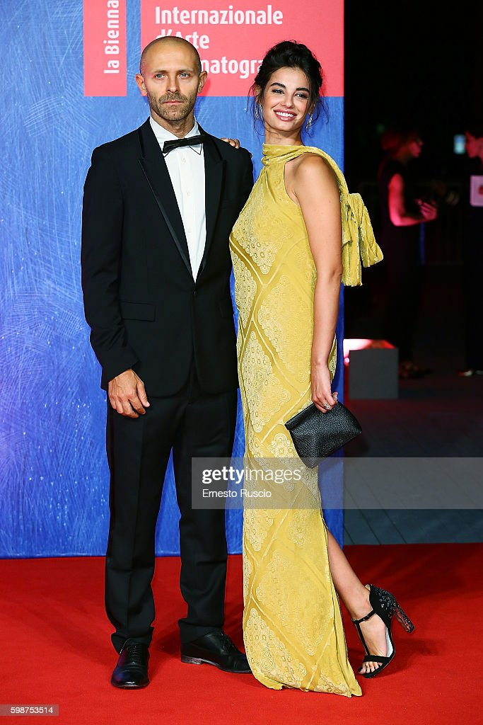 Stefano Rosso and Francesca Chillemi attend the premiere of 'Franca: Chaos And Creation' during the 73rd Venice Film Festival at Sala Giardino on September 2, 2016 in Venice, Italy.