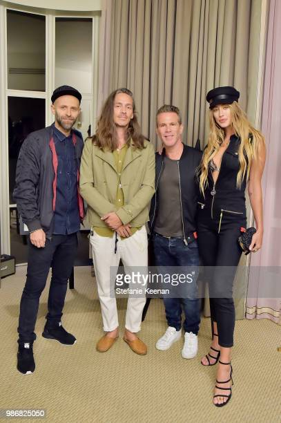 Stefano Rosso Brandon Boyd Scott Lipps and Jessica Michel Serfaty attend Diesel Presents Scott Lipps Photography Exhibition 'Rocks Not Dead' at...