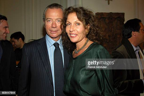 Stefano Russo and Jacqueline Schnabel attend Dinner Celebration of the U.S. Launch of HOUSE OF WARIS and the Magic of India at Consulate General of...