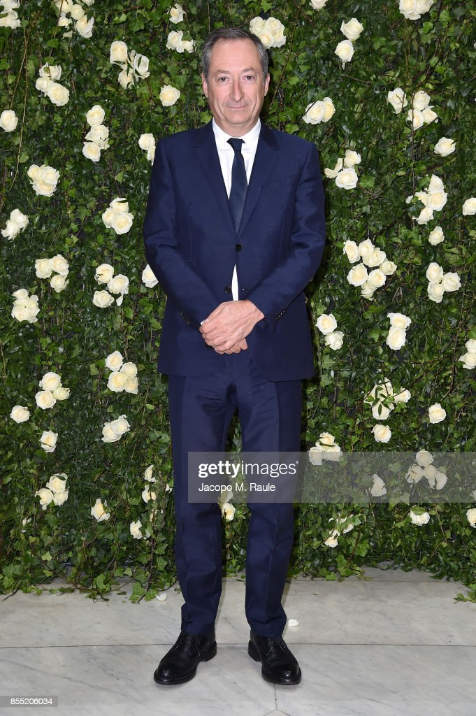 Stefano Sassi attends the Balmain show as part of the Paris Fashion Week Womenswear Spring/Summer 2018 on September 28, 2017 in Paris, France.