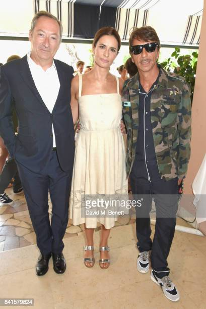 Stefano Sassi Livia Firth and Pierpaolo Piccioli attend an intimate lunch hosted by Livia Firth Carlo Capasa and Caroline Scheufele to announce...