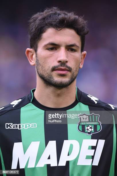Stefano Sensi during the Serie A TIM match between SSC Napoli and US Sassuolo at Stadio San Paolo Naples Italy on 29 October 2017