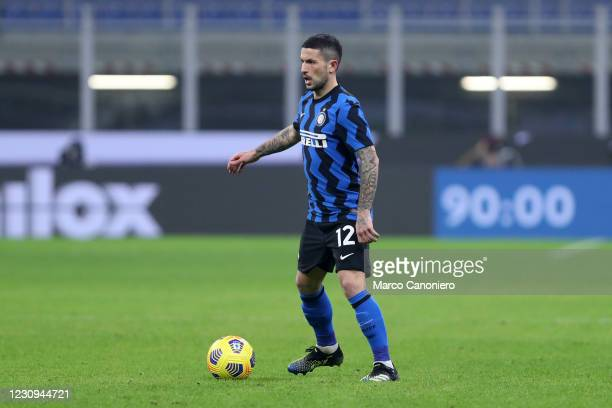Stefano Sensi of Fc Internazionale in action during the Coppa Italia Semi-final first leg match between Fc Internazionale and Juventus Fc. Juventus...