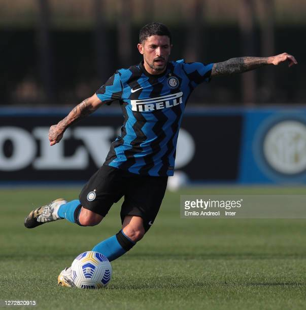 Stefano Sensi of FC Internazionale in action during the PreSeason Friendly match between FC Internazionale and Lugano at the club's training ground...