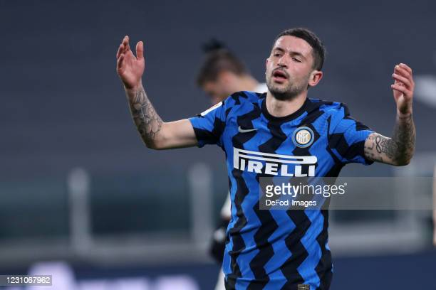Stefano Sensi of FC Internazionale looks dejected after the Coppa Italia semi-final Juventus and FC Internazionale at Allianz Stadium on February 9,...