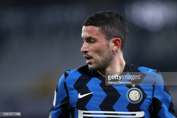 Stefano Sensi of Fc Internazionale looks on during the Coppa Italia Semi-final second leg match between Juventus Fc and Fc Internazionale . The match...