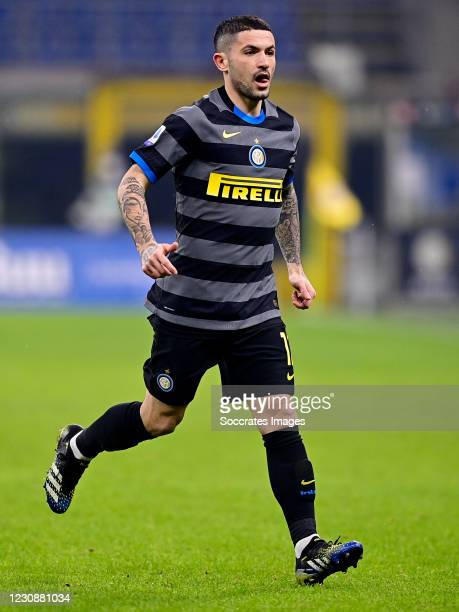 Stefano Sensi of Internazionale during the Italian Serie A match between Internazionale v Benevento Calcio at the San Siro on January 30, 2021 in...