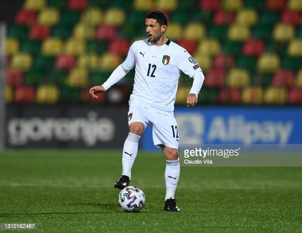 Stefano Sensi of Italy in action during the FIFA World Cup 2022 Qatar qualifying match between Lithuania and Italy on March 31, 2021 in Vilnius,...