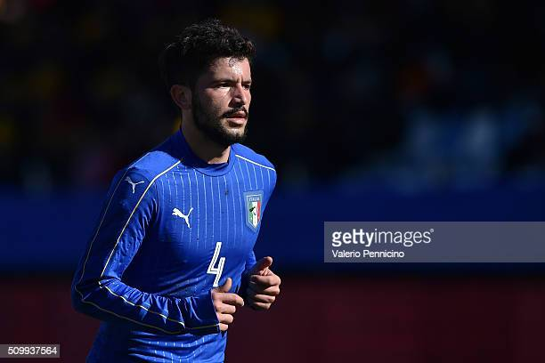 Stefano Sensi of Italy U21 looks on during the friendly match between Italy U21 and Italy B on February 10 2016 in Chiavari Italy